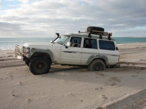 Two wheel drive on the beach doesn't work!