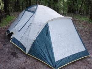 A small dome tent works well