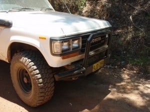 A custom made bullbar
