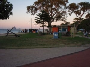 The beach and toilets