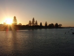 Sunset at Palm Beach Jetty