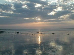 A Sunrise at Broome on the Mud Flats