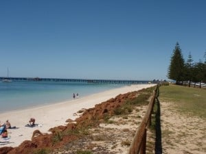 The main beach in Busselton