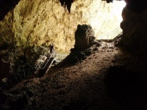 The exit of Mammoth Cave