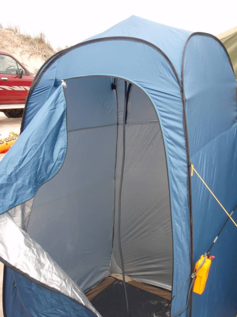 A small tent is all you need for some privacy