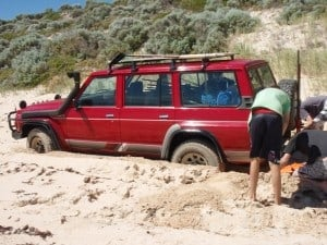 All Terrain Tyres that weren't deflated enough!