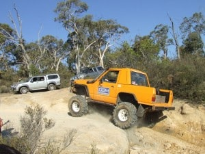 A competition vehicle off road
