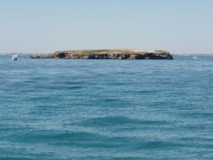 Carnac Island from the side