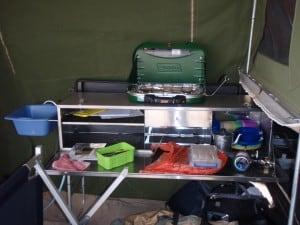 A well set up kitchen