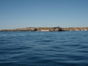 The side of Carnac Island
