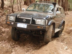 An ARB Bumper on a Hilux Surf
