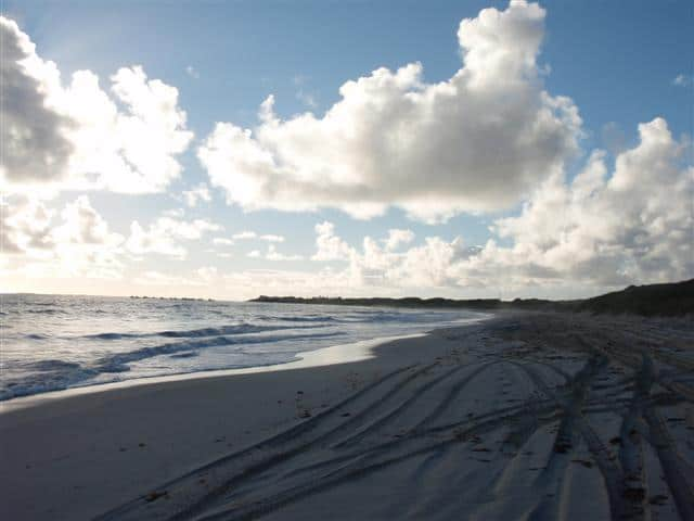The beach south of Ledge Point
