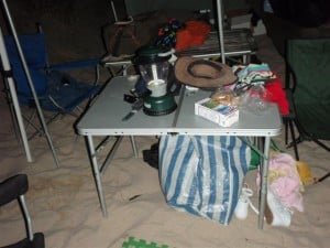 Two different Camping Tables