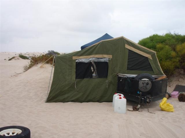 A hired Camper Trailer