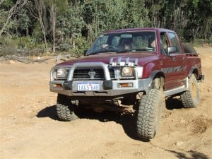 My Hilux at Mundaring Powerlines