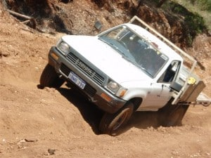 A hilux without a lift