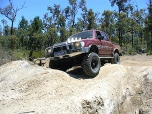 """Hilux on 33"""" Maxxis Bighorns"""