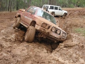 My Hilux close to rolling