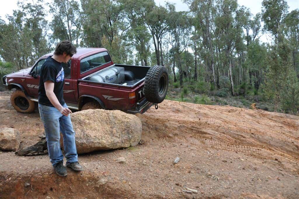 Rocks cause nasty damage to four wheel drives!