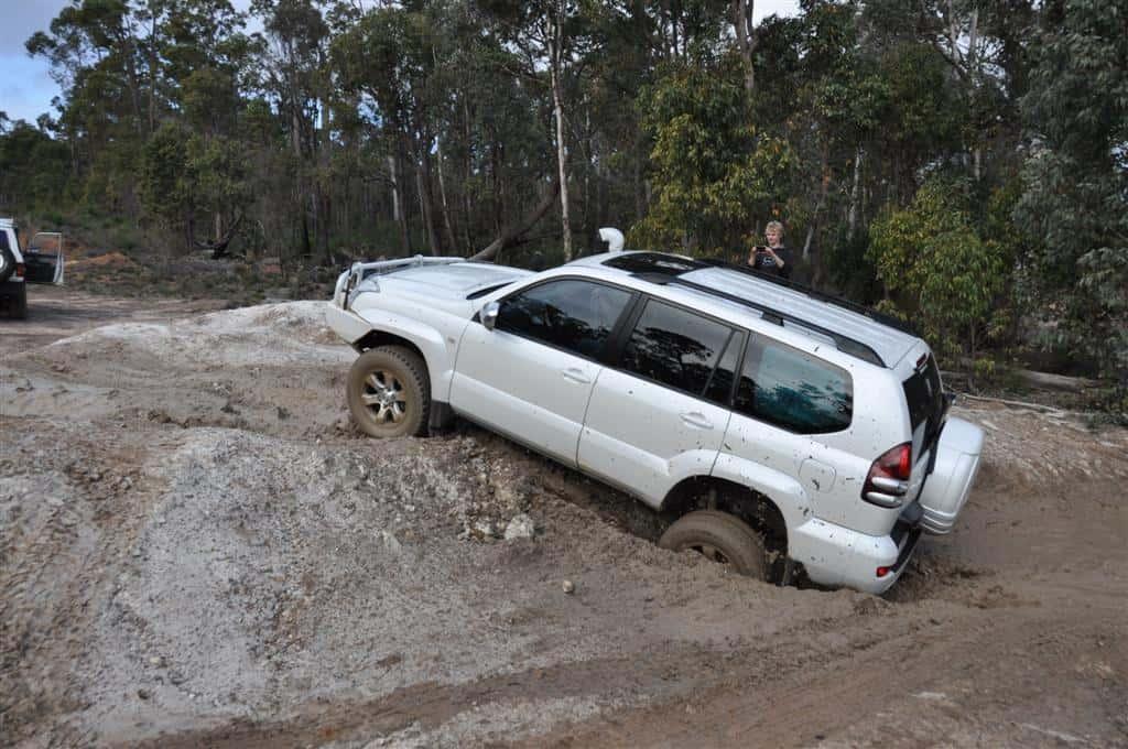 Toyota Prado Traction Control works brilliantly