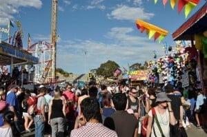 The Perth Royal Show rides