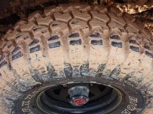 Typical Mud Tyre Tread