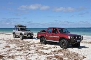 Enjoying a bit of beach driving