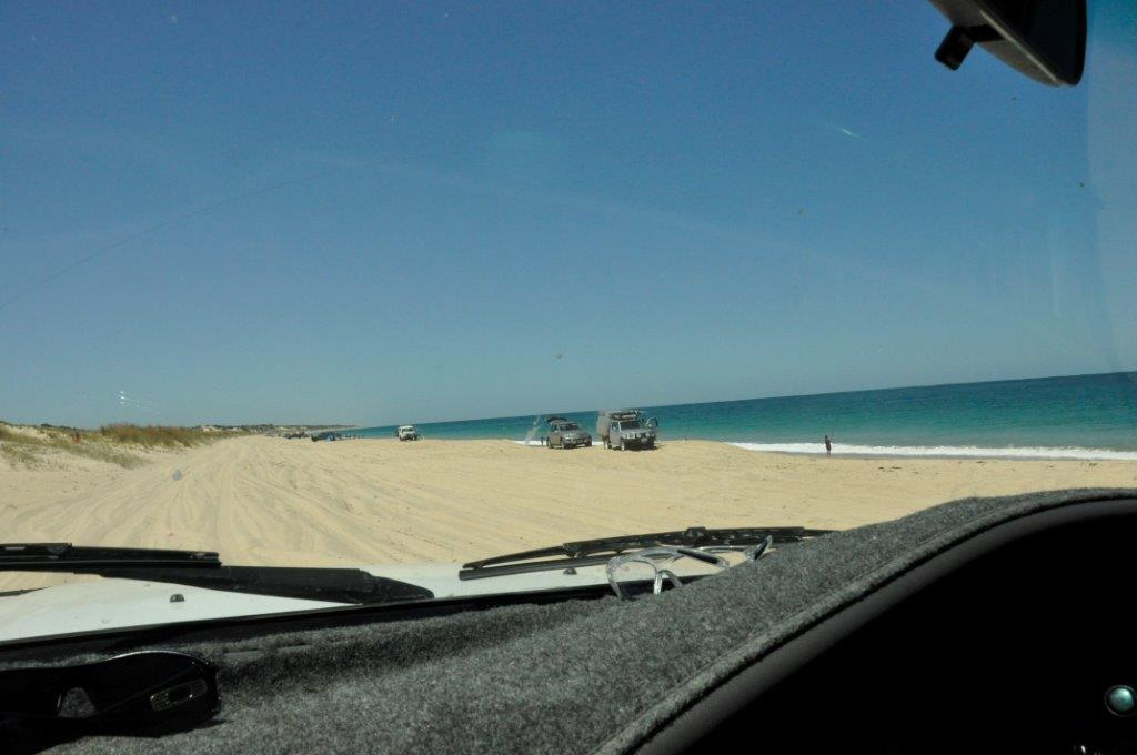 Beach driving near Perth