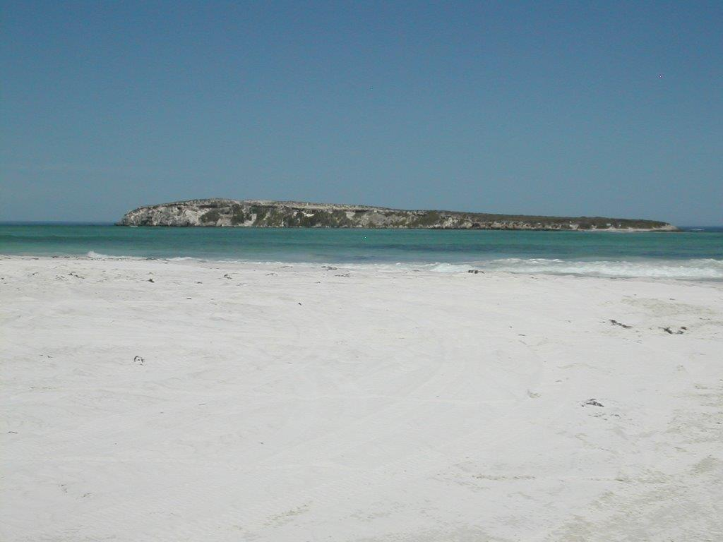 Wedge Island from the beach