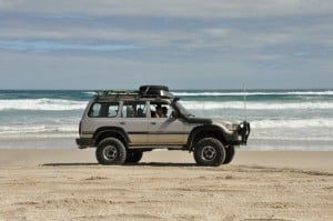 Beach driving in a cruiser