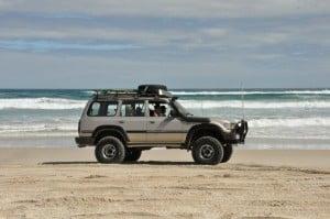 Beach driving in a cruiser