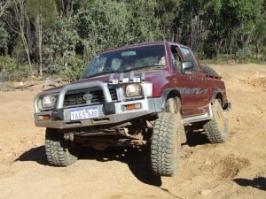 Lift kit in a 4WD