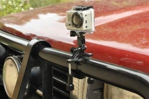 Go Pro Camera pipe clamp on bull bar 300x199 Whats so good about a Go Pro Camera?