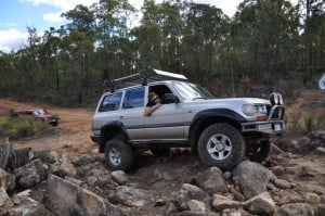 Playing in the rocks at Mundaring Powerlines Track 300x199 4WD Days out of Perth