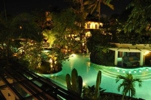 Padma Resort Bali at night 300x199 Travelling Bali