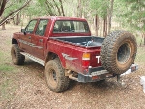 Hilux Rear Bar and tyre carrier 300x225 Buying a Rear Bar for your 4WD