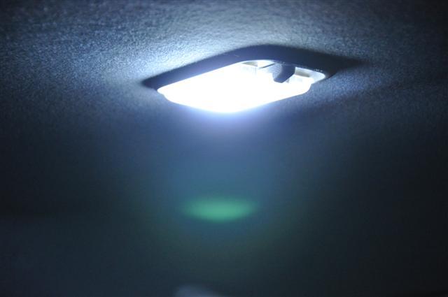 An aftermarket upgraded interior LED Light