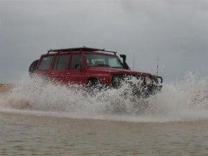 Water crossings are a part of four wheel driving
