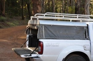 Canvas Canopy on a Navara 300x199 Ute Canopies