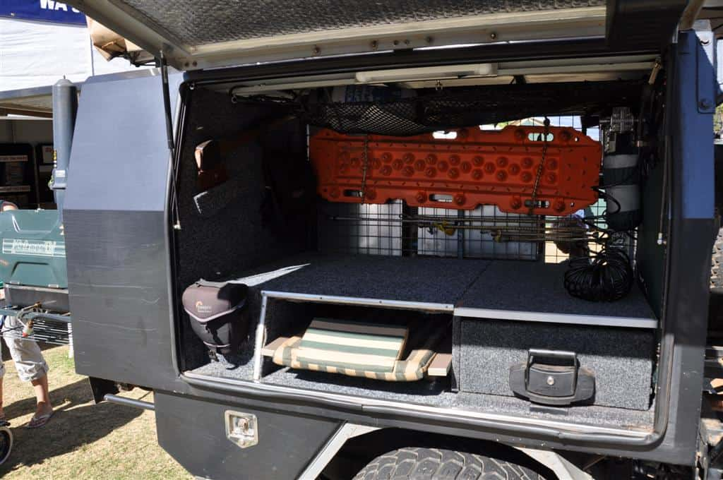 Side access into a Landcruiser Canopy