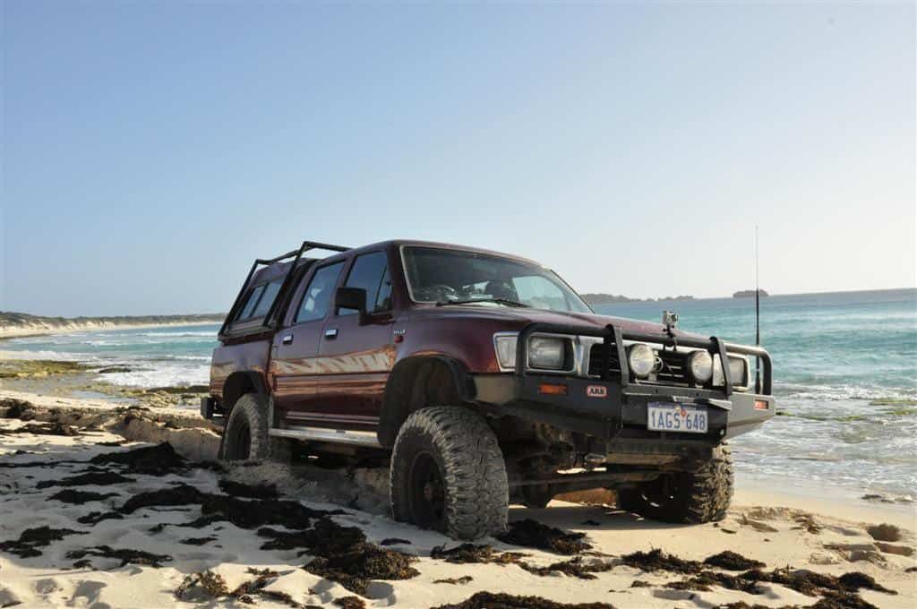 Stuck on Hamelin Bay beach
