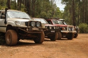 Exploring Dwellingup by four wheel drive