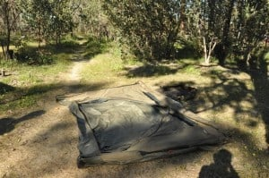Setting the Oztent up