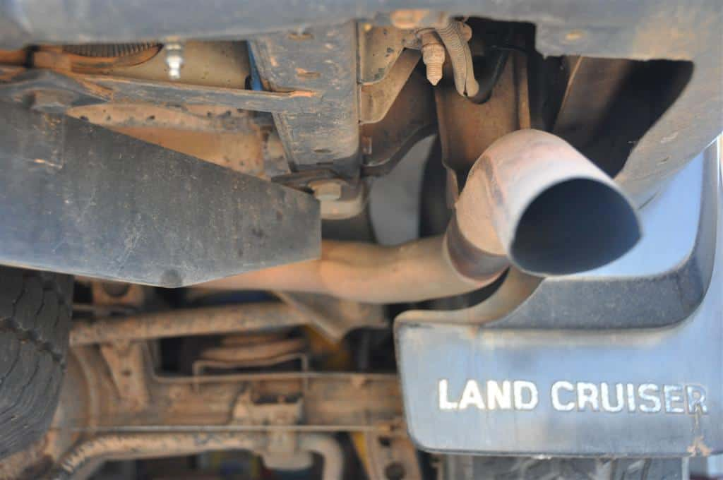 The old, restricted exhaust