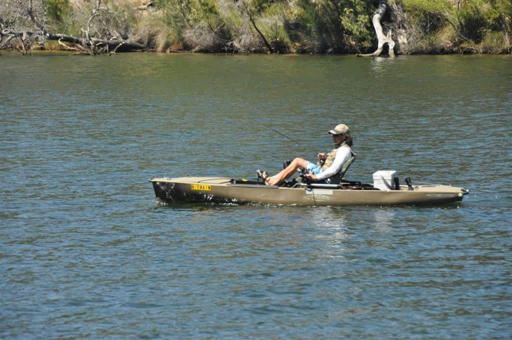 A great way to fish rivers is on a Kayak