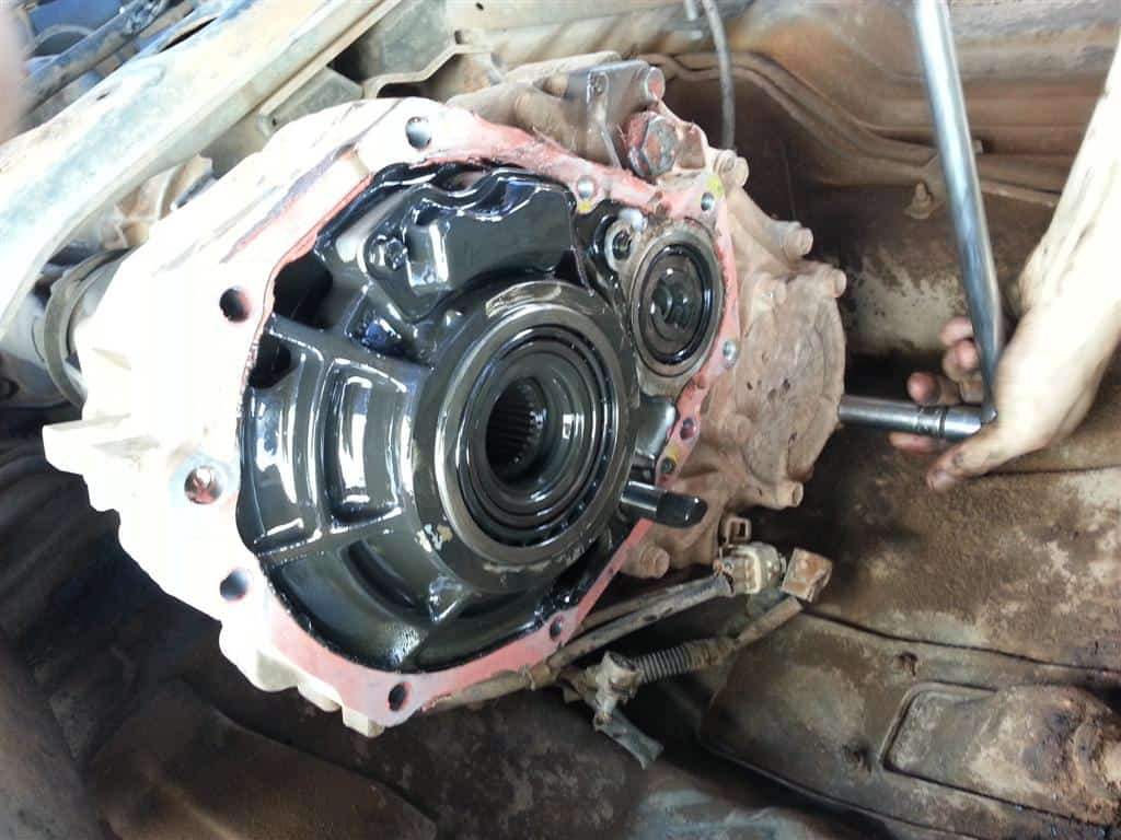 The Rear Of The Transfer Case Open