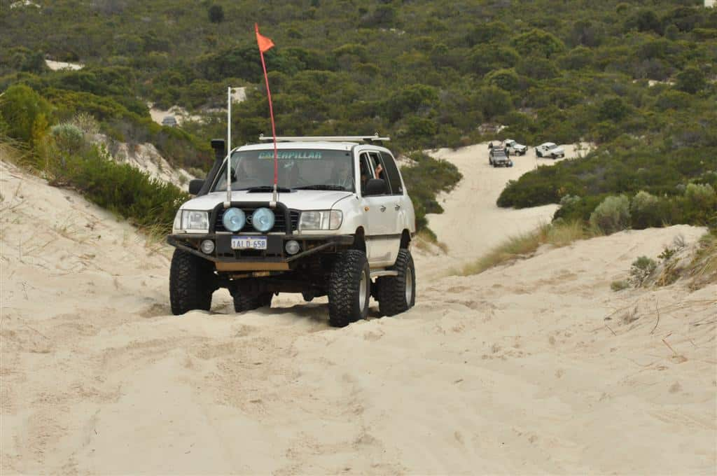 Calcup Hill in a 100 series Land Cruiser