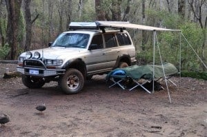 4WD Awning on an 80 Series Land Cruiser