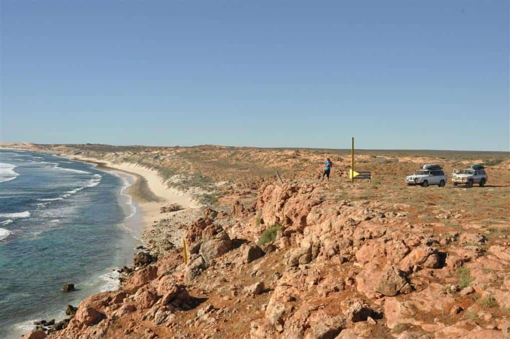 Gnaraloo coastline north of 3 mile