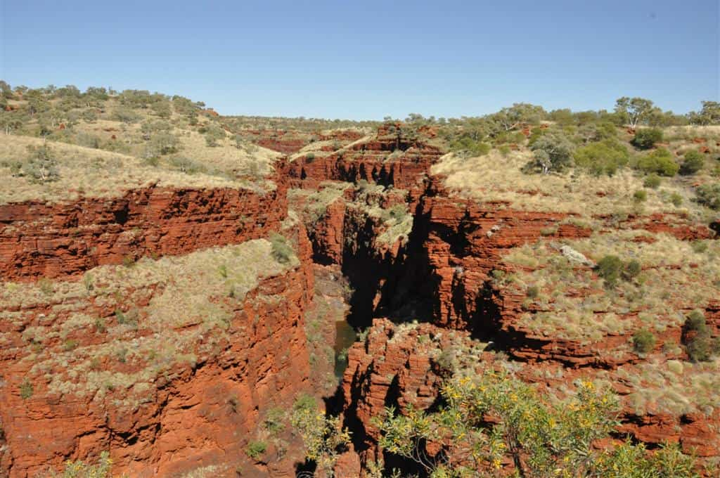 Karijini Gorges meet up together